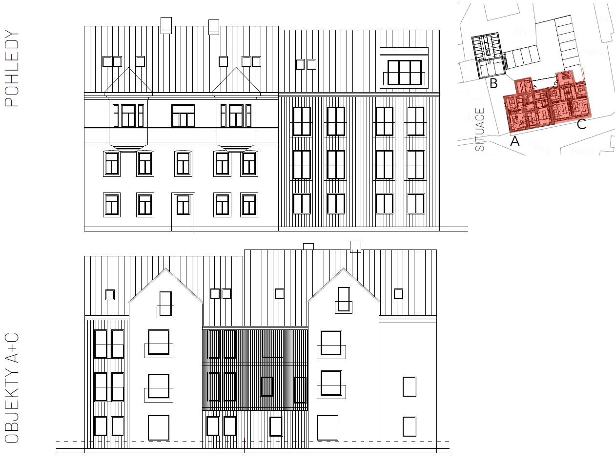 Abertamy - centrum - projekt