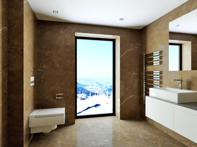 Boží dar - vizualizace koupelny