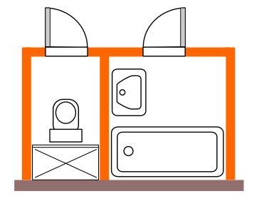 rekonstrukce koupelny / Bytové jádro typu E