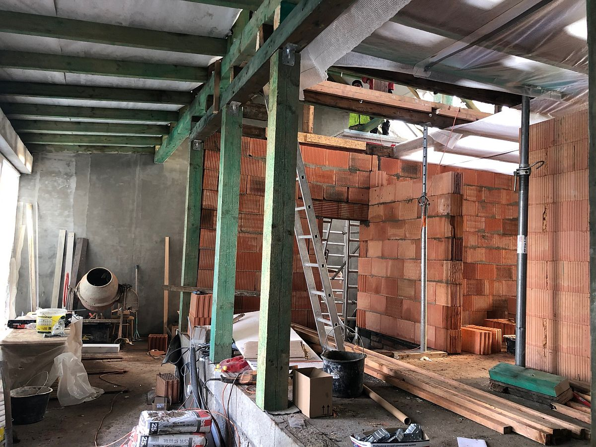 Dostavba domu Praha 10 - vnitřní výstavba