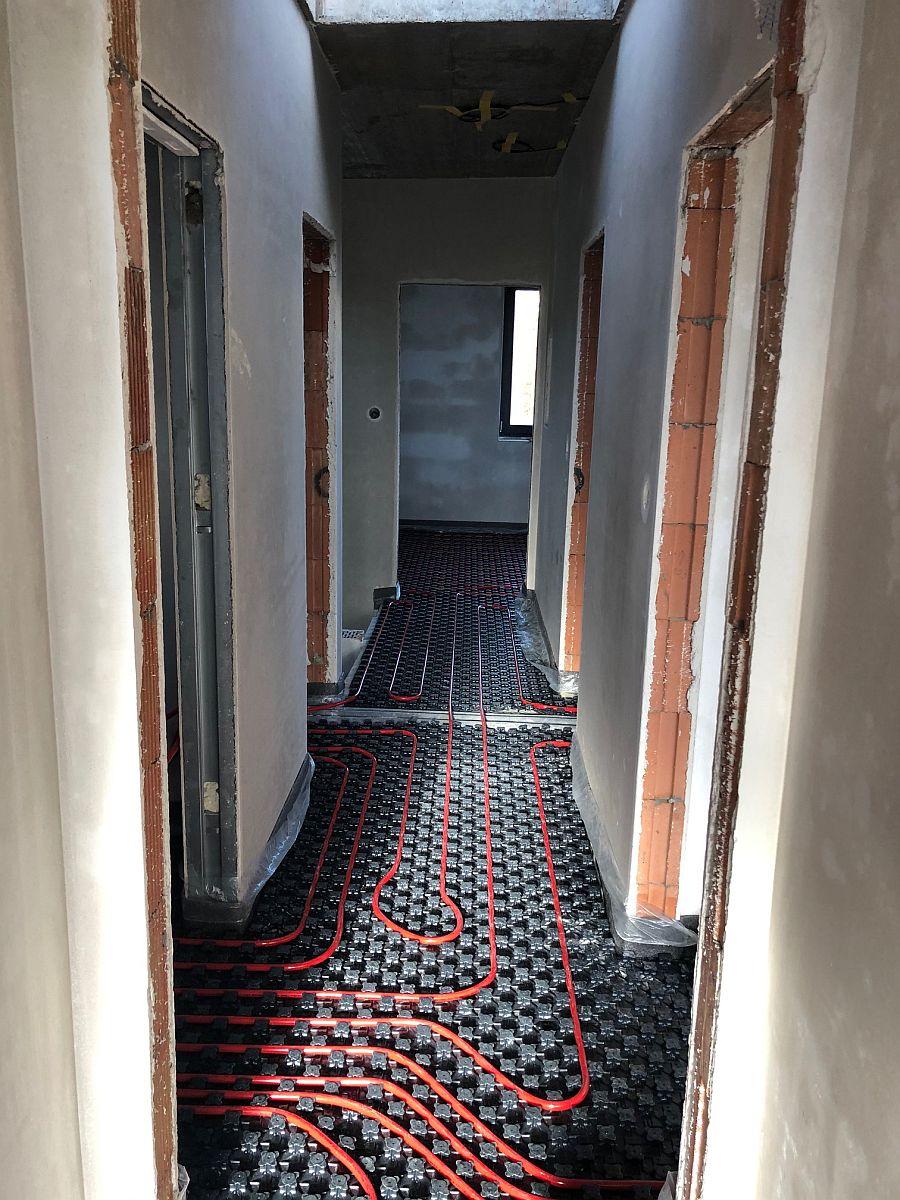 Podlahové topení v předsíni
