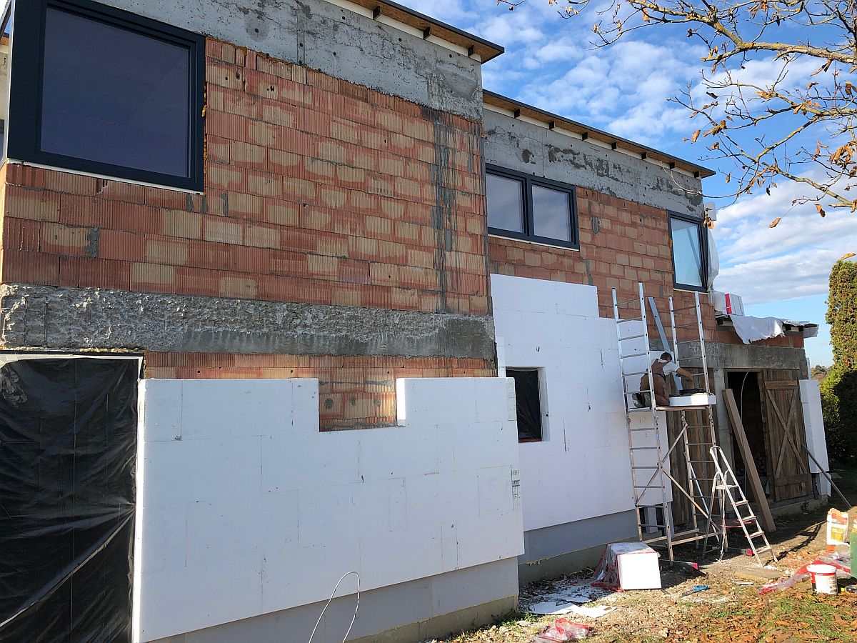 Zateplení fasády domu