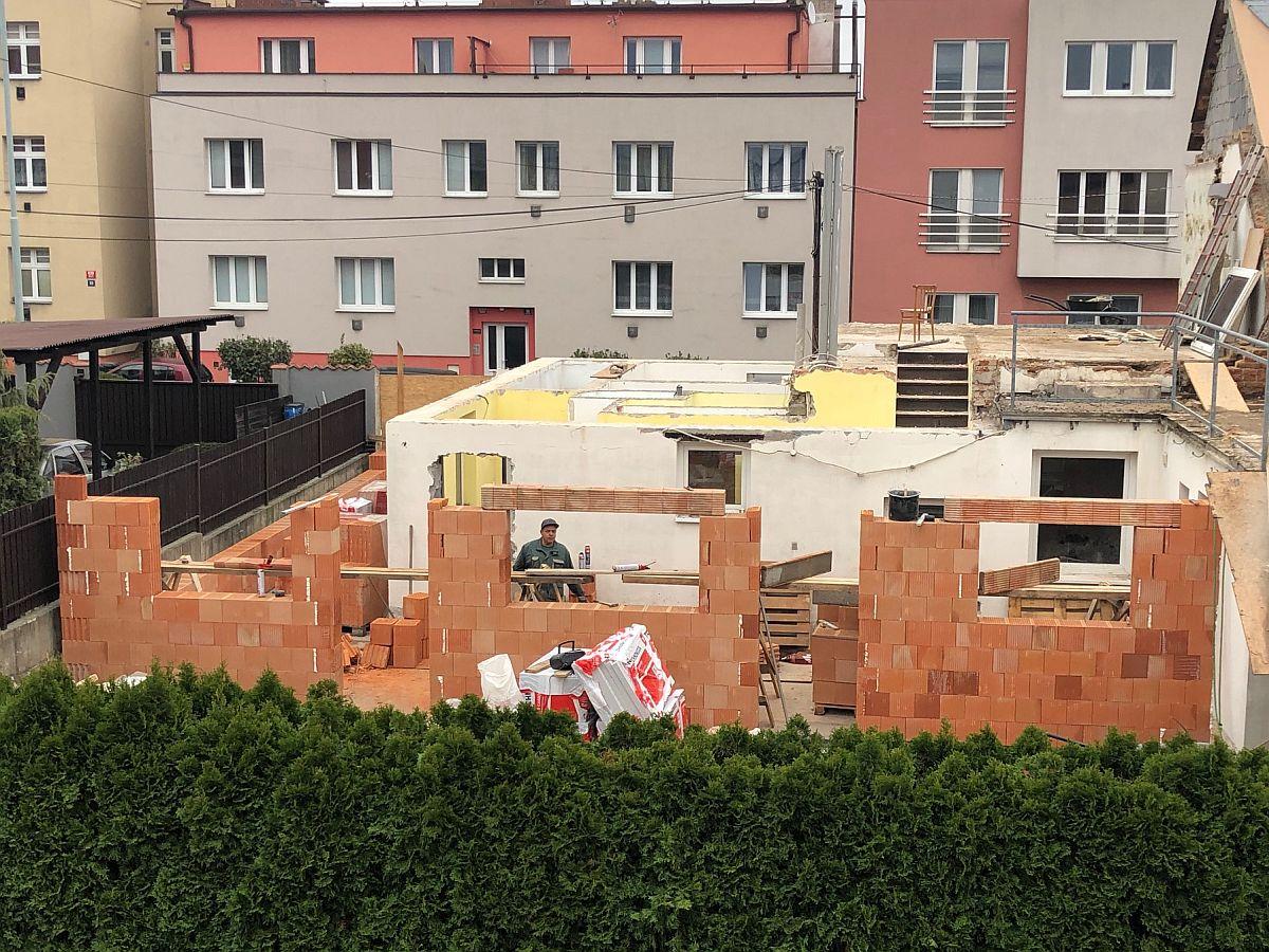Výstavba obvodových zdí