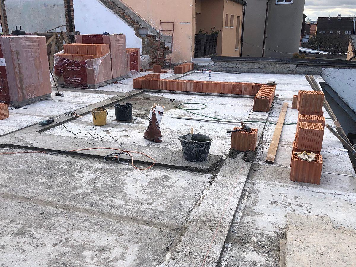 Zahájení stavby 2. patra