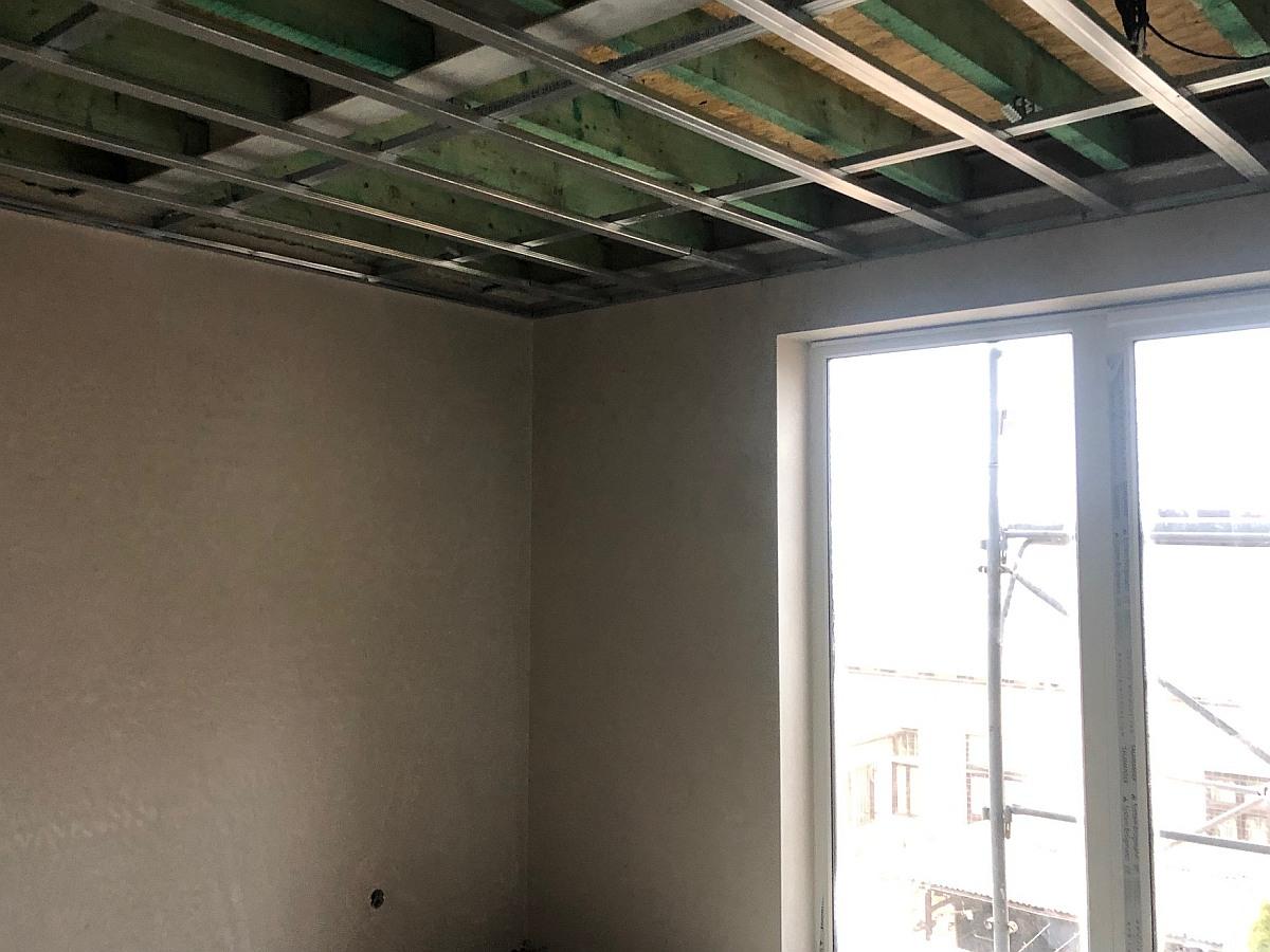 Vnitřní omítky, konstrukce stropního podhledu