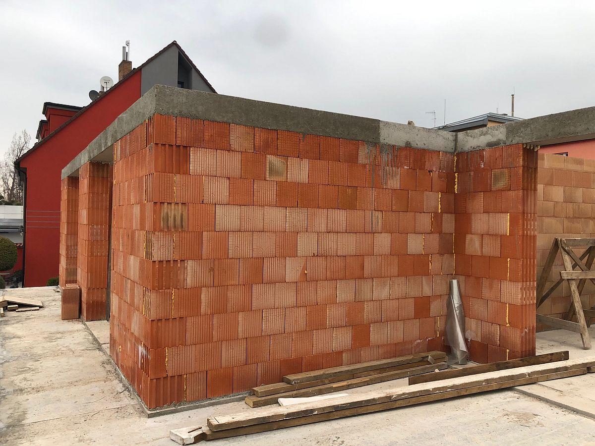 Hrubá stavba 2. podlaží