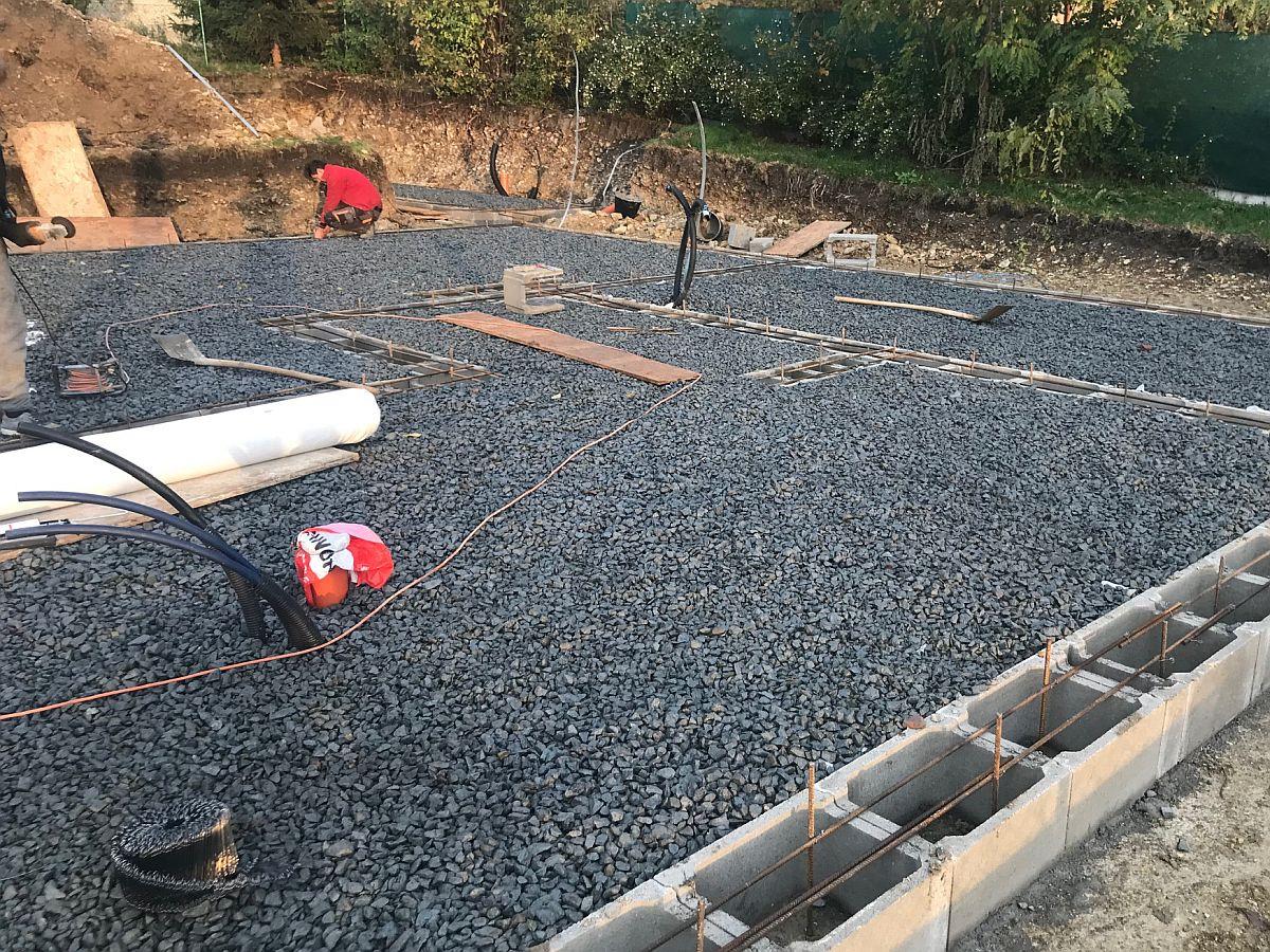 Příprava na betonování základů