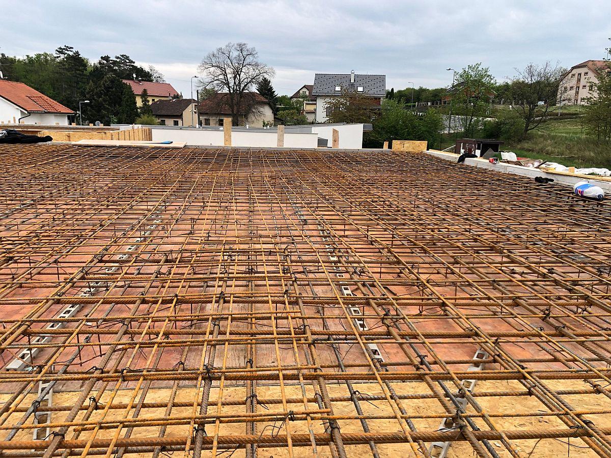 Příprava na betonování stropu / střechy
