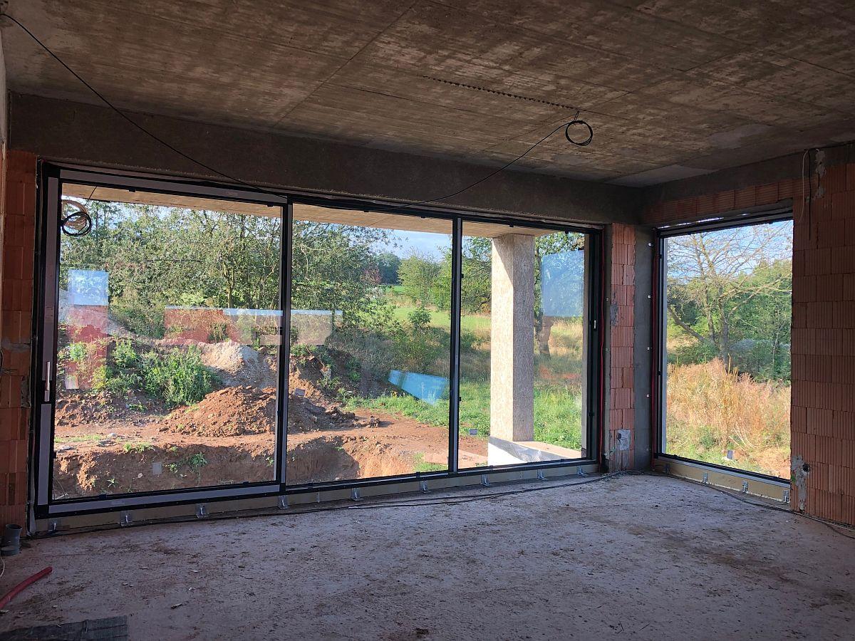 Osazená okna - pohled zevnitř