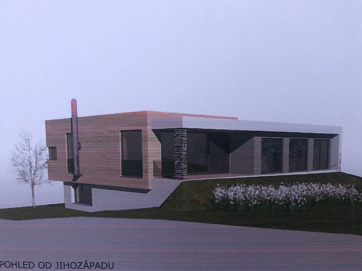 Vizualizace domu na klíč v Úholičkách (od JZ)