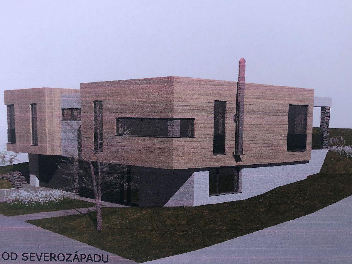 Vizualizace domu na klíč v Úholičkách (od SZ)