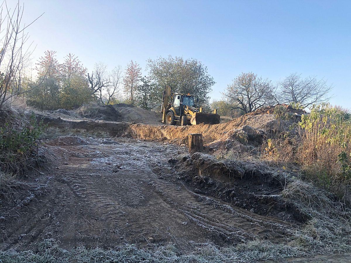 Pozemní práce koncem října 2019
