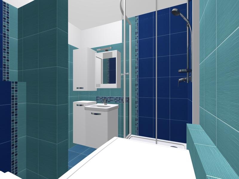 Koupelny - 3D vizualizace 3