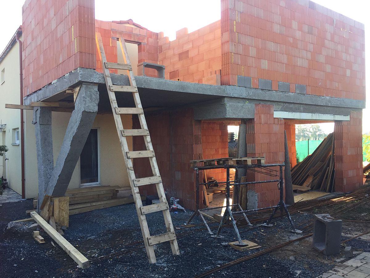 Přístavba domu Ptice - srpen 2