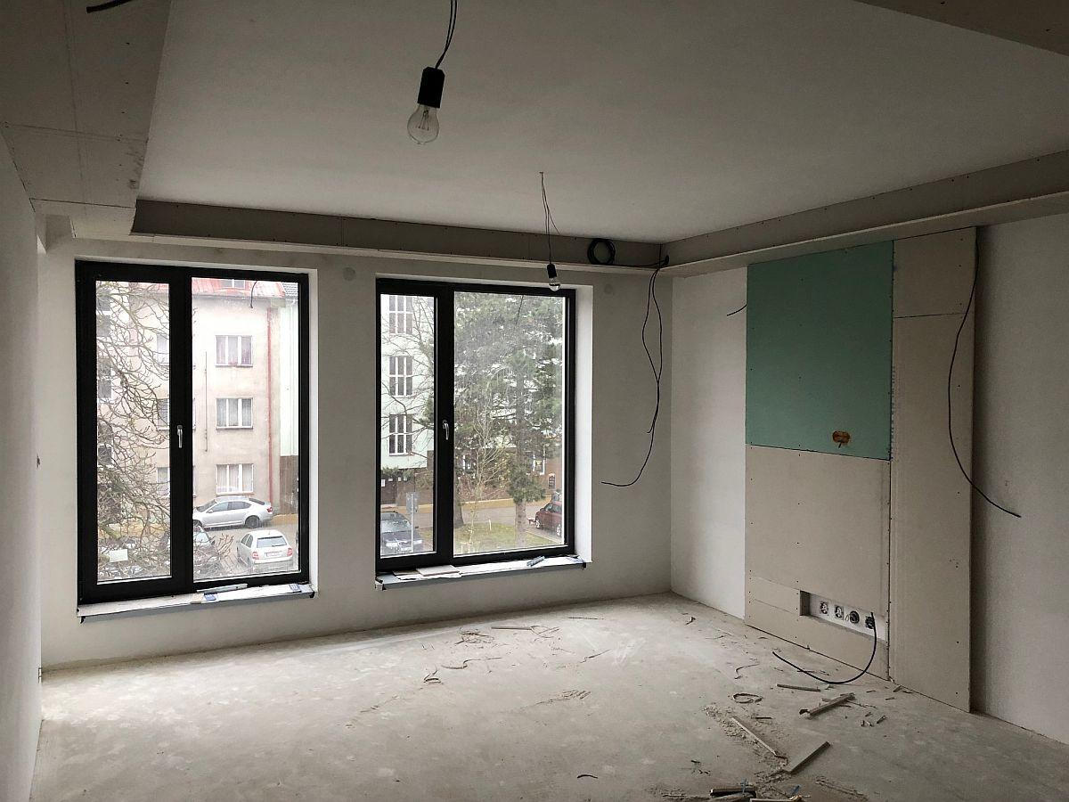 Realiazce bytu v Rakovníku - vnitřní práce