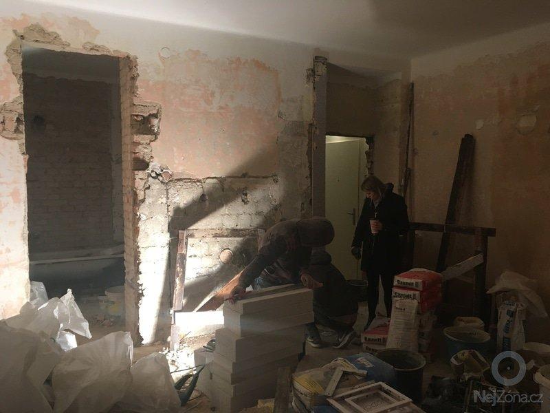 Rekonstrukce bytu 1+kk Jesenice u Prahy - před rekonstrukcí 3