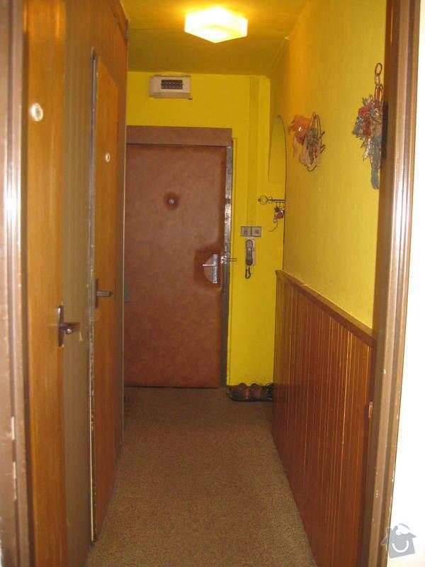 Rekonstrukce panelového bytu Praha 9 - chodba před