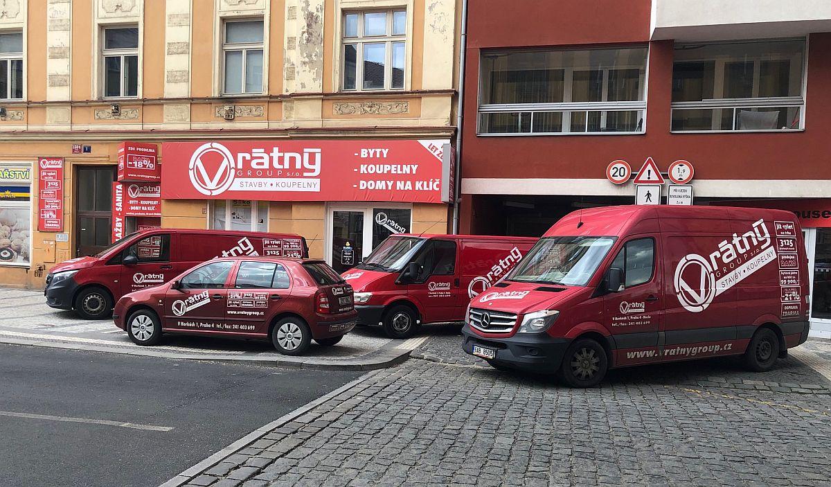 Vozový park stavební firmy Vrátný Group