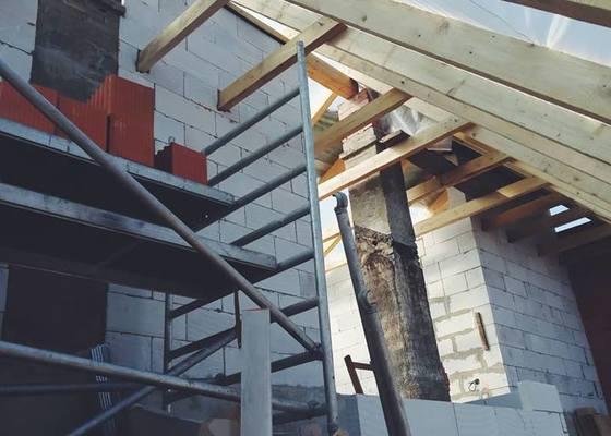 Výstavba podkroví - Hřebeč u Kladna